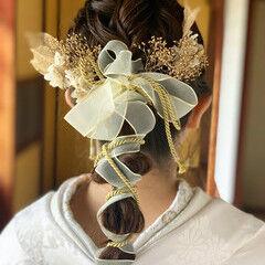 セミロング ヘアアレンジ ポニーテールアレンジ フェミニン ヘアスタイルや髪型の写真・画像