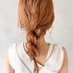 ナチュラル ミディアム 結婚式 ヘアアレンジ ヘアスタイルや髪型の写真・画像