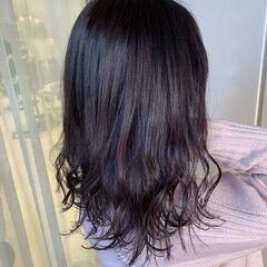 ラベンダーカラー 春スタイル ガーリー ラベンダーグレージュ ヘアスタイルや髪型の写真・画像