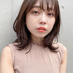 ナチュラル 韓国ヘア 縮毛矯正ストカール ミディアム