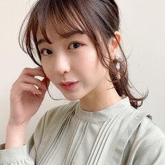 小顔 アンニュイほつれヘア 簡単ヘアアレンジ ポニーテール ヘアスタイルや髪型の写真・画像