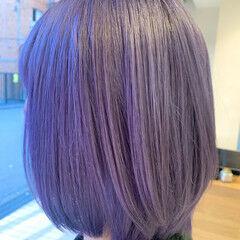 ハイトーンカラー ユニコーンカラー バイオレットカラー ストリート ヘアスタイルや髪型の写真・画像