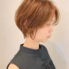 ショートボブ フェミニン ショートヘア ミニボブ ヘアスタイルや髪型の写真・画像
