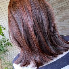 ヘナカラー 外はね ゆるナチュラル ナチュラル可愛い ヘアスタイルや髪型の写真・画像