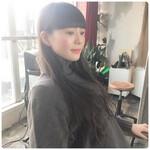 セミロング 韓国ヘア グレージュ アンニュイほつれヘア