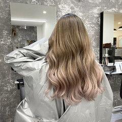 バレイヤージュ 外国人風カラー ストリート ホワイトアッシュ ヘアスタイルや髪型の写真・画像