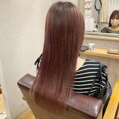 透け感 ストレート ロング イルミナカラー ヘアスタイルや髪型の写真・画像