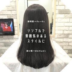 ストレート 髪質改善 ナチュラル 縮毛矯正 ヘアスタイルや髪型の写真・画像