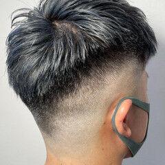 ストリート 外国人風カラー フェードカット スキンフェード ヘアスタイルや髪型の写真・画像