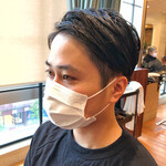 黒髪 メンズヘア ツーブロック ショート