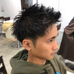 メンズスタイル ショート アップバング メンズヘア
