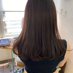 ワンカールパーマ ロング フェミニン デジタルパーマ ヘアスタイルや髪型の写真・画像