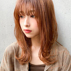 ナチュラル デジタルパーマ 愛され レイヤースタイル ヘアスタイルや髪型の写真・画像