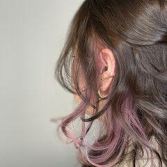 ふわふわヘアアレンジ アンニュイほつれヘア イヤリングカラー ミディアム ヘアスタイルや髪型の写真・画像
