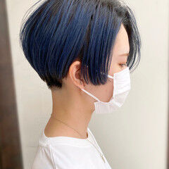 ナチュラル ショート 簡単スタイリング 刈り上げショート ヘアスタイルや髪型の写真・画像