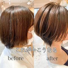 ショートヘア アンニュイほつれヘア ナチュラル ショートボブ ヘアスタイルや髪型の写真・画像