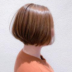 ショートボブ 大人ショート 秋冬スタイル ショート ヘアスタイルや髪型の写真・画像