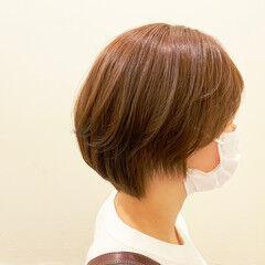 ナチュラル 簡単スタイリング ショコラブラウン ブラウン ヘアスタイルや髪型の写真・画像