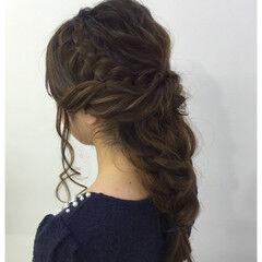 ヘアセット フェミニン ヘアアレンジ ねじり ヘアスタイルや髪型の写真・画像