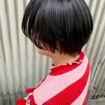 黒髪 ショート 簡単ヘアアレンジ ナチュラル