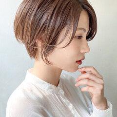 デート 大人かわいい ショート ショートボブ ヘアスタイルや髪型の写真・画像