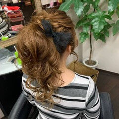 ヘアアレンジ 簡単ヘアアレンジ ナチュラル ロング ヘアスタイルや髪型の写真・画像
