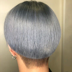 グレー ショート アッシュグレー 外国人風カラー ヘアスタイルや髪型の写真・画像