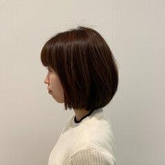 まとまるボブ 内巻き ボブ 絶壁カバー ヘアスタイルや髪型の写真・画像