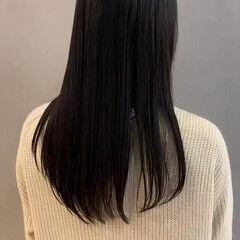 ロング 髪質改善 ストレート プリンセストリートメント ヘアスタイルや髪型の写真・画像