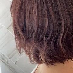 アンニュイほつれヘア イルミナカラー ボブ 質感カラー ヘアスタイルや髪型の写真・画像