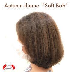 ナチュラルブラウンカラー ボブ 外国人風フェミニン エレガント ヘアスタイルや髪型の写真・画像