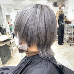 ハイトーンカラー ストリート ウルフカット ショート ヘアスタイルや髪型の写真・画像