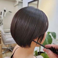 縮毛矯正 ハンサムショート ナチュラル 小顔ショート ヘアスタイルや髪型の写真・画像