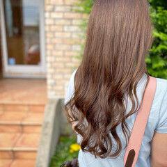 ナチュラル 髪質改善 艶カラー 艶髪 ヘアスタイルや髪型の写真・画像