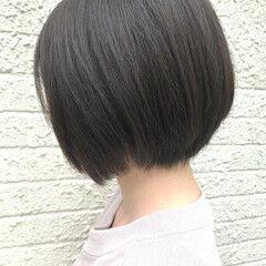 デート 黒髪ショート 小顔ヘア ナチュラル ヘアスタイルや髪型の写真・画像