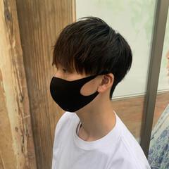 メンズ 簡単スタイリング メンズマッシュ 韓国ヘア ヘアスタイルや髪型の写真・画像