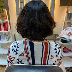 ボブ ボブ パーマ  ヘアスタイルや髪型の写真・画像