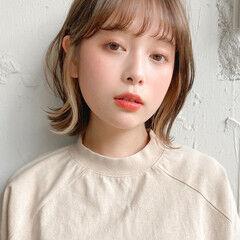 ゆるふわパーマ 小顔ショート ストレート 似合わせカット ヘアスタイルや髪型の写真・画像