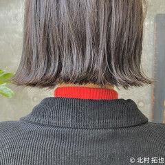 N.オイル ボブ ナチュラル グレージュ ヘアスタイルや髪型の写真・画像