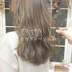 ヘアカラー ベージュ ロング ミルクティーベージュ ヘアスタイルや髪型の写真・画像