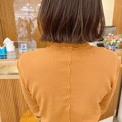 ミニボブ 切りっぱなしボブ タッセルボブ アッシュベージュ ヘアスタイルや髪型の写真・画像