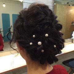 ニュアンス ガーリー パールアクセ セミロング ヘアスタイルや髪型の写真・画像