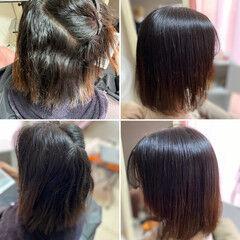 髪質改善 髪質改善トリートメント 縮毛矯正 脱縮毛矯正 ヘアスタイルや髪型の写真・画像