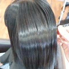 ナチュラル 水素 ミディアム 髪質改善トリートメント ヘアスタイルや髪型の写真・画像