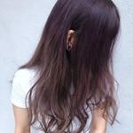 セミロング ベリーピンク ショートヘア ナチュラル