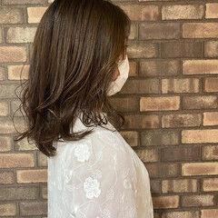 ミディアムヘアー 透明感 ナチュラル ミディアム ヘアスタイルや髪型の写真・画像