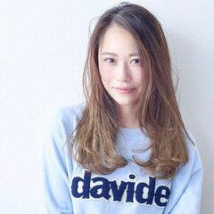 大人かわいい セミロング ヘアアレンジ 撮影 ヘアスタイルや髪型の写真・画像