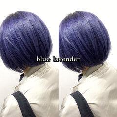 ラベンダー ストリート ブルーラベンダー ヘアカラー ヘアスタイルや髪型の写真・画像