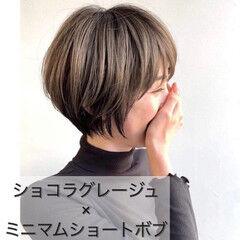 外国人風カラー 小顔ヘア ショコラブラウン ナチュラル ヘアスタイルや髪型の写真・画像