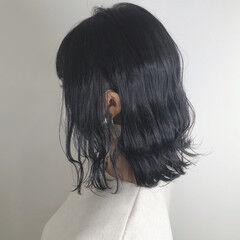 透明感カラー ナチュラル ダークグレー ボブ ヘアスタイルや髪型の写真・画像